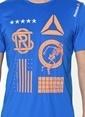 Reebok Baskılı Tişört Mavi